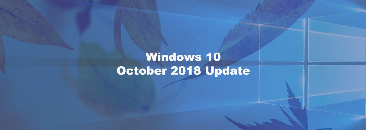 Взгляд на обновленную Windows 10 October Update 2018