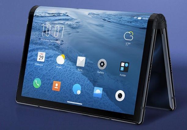 смартфон с гибким экраном FlexPai
