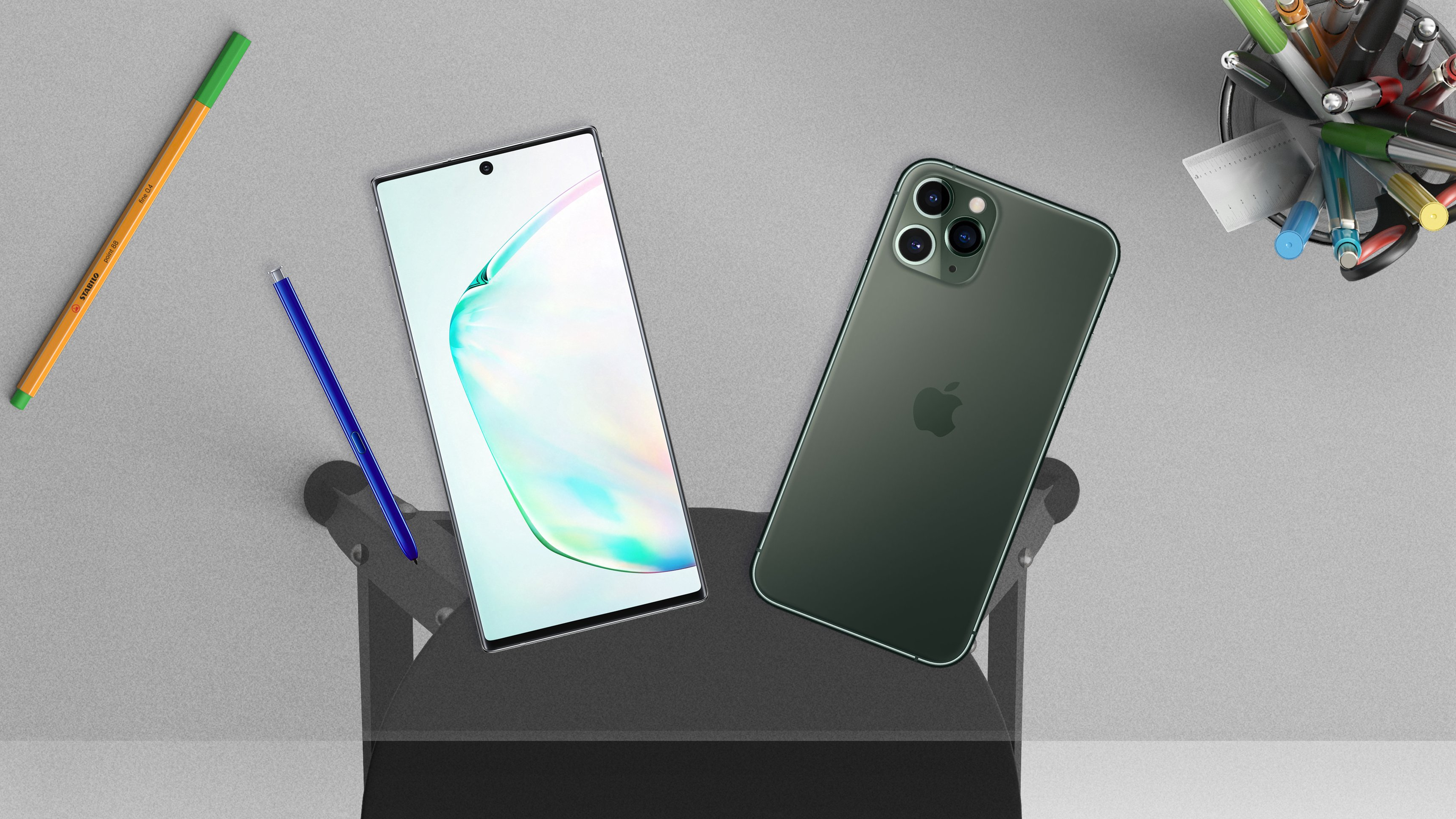 Битва титанов: Apple iPhone 11 Pro Max VS Samsung Galaxy Note 10+